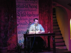 Falk Sperber auf der Bühne